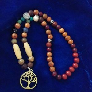 OOAK Beaded Tree of Life Necklace